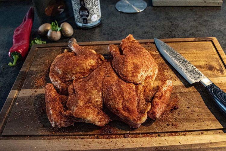 spatchcock chicken van de grill bill bbq 17