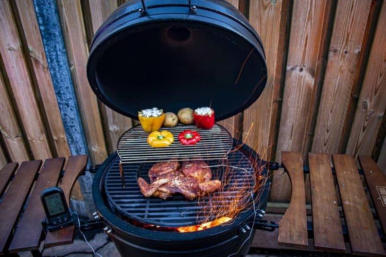 spatchcock chicken van de grill bill kamado bbq 7